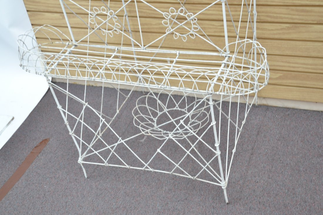 """3-TIER FRENCH WIRE PLANT STAND - 36"""" x 25"""" x 42"""" - 8"""