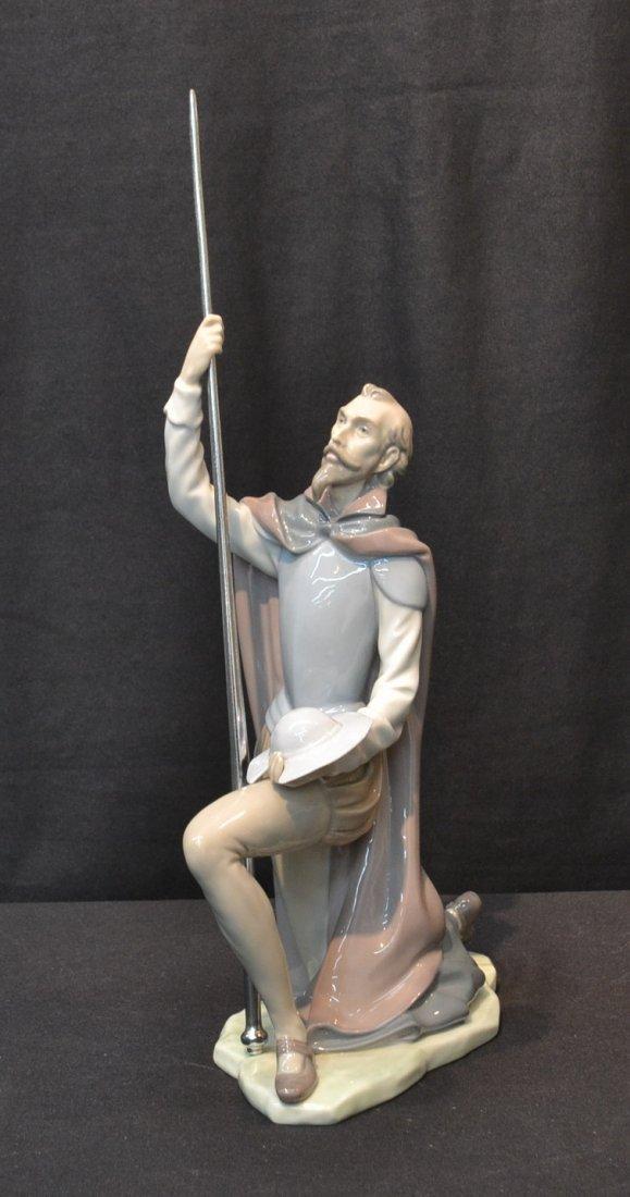 LLADRO DON QUIXOTE WITH METAL SWORD