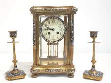 19thC CALDWELL & SONS FRENCH BRONZE & CHAMPLEVE