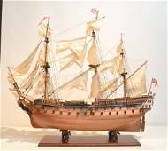 "LARGE ""BELLONA"" WOOD & METAL SHIP MODEL"