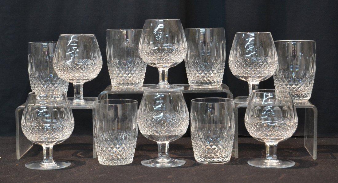 (6) WATERFORD BRANDY GLASSES & (6) WATERFORD