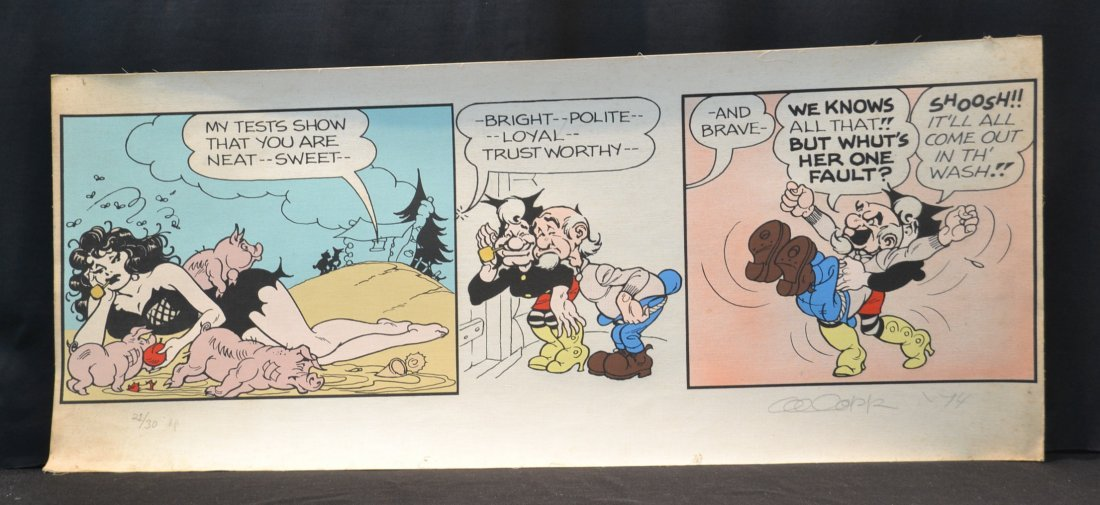 PENCIL SIGNED AL CAPP LIL ABNER COMIC STRIP