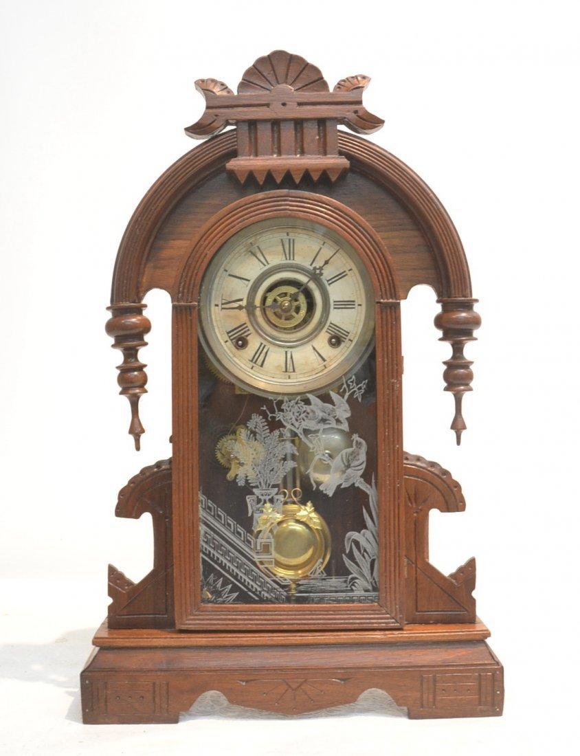 EASTLAKE VICTORIAN WALNUT CLOCK