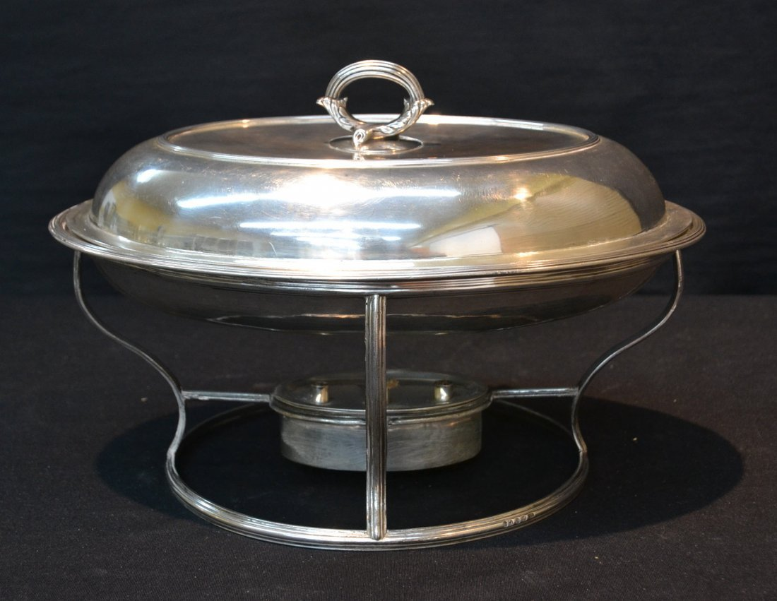 GEORGIAN STERLING SILVER HEATED SERVING DISH