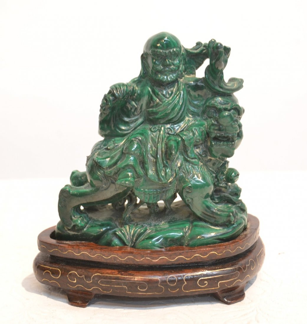 "MALACHITE SHOKI ON STAND - 4"" x 2"" x 4"""