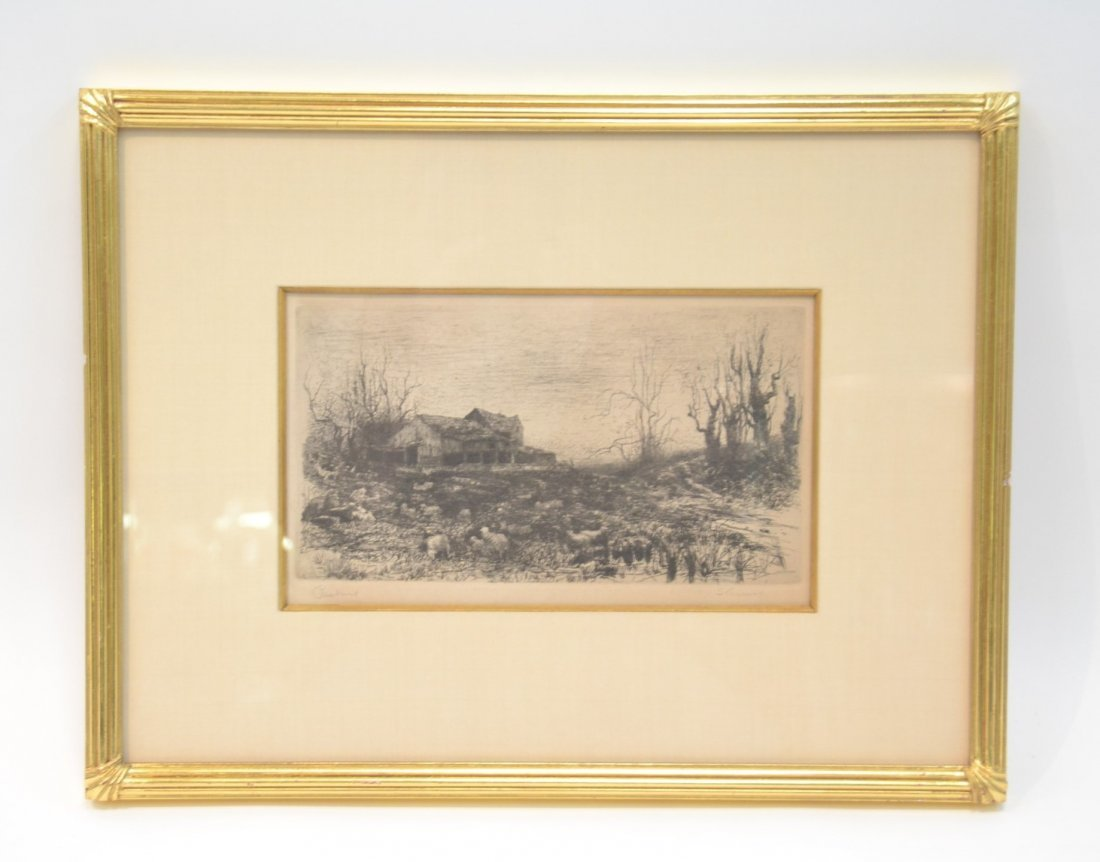 STEPHEN PARRISH ; PENCIL SIGNED ETCHING TITLED