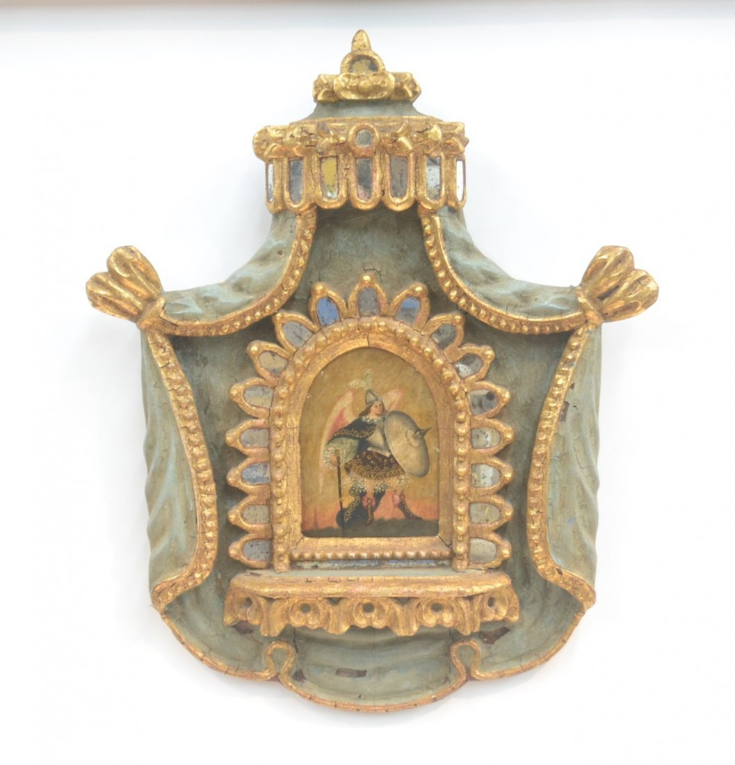 18th CENTURY ? CARVED ITALIAN REMEMBRANCE