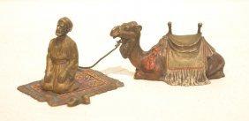 Austrian Cold Painted Bronze Arab Praying