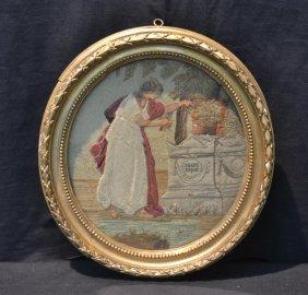 19thc English Needlework Depicting