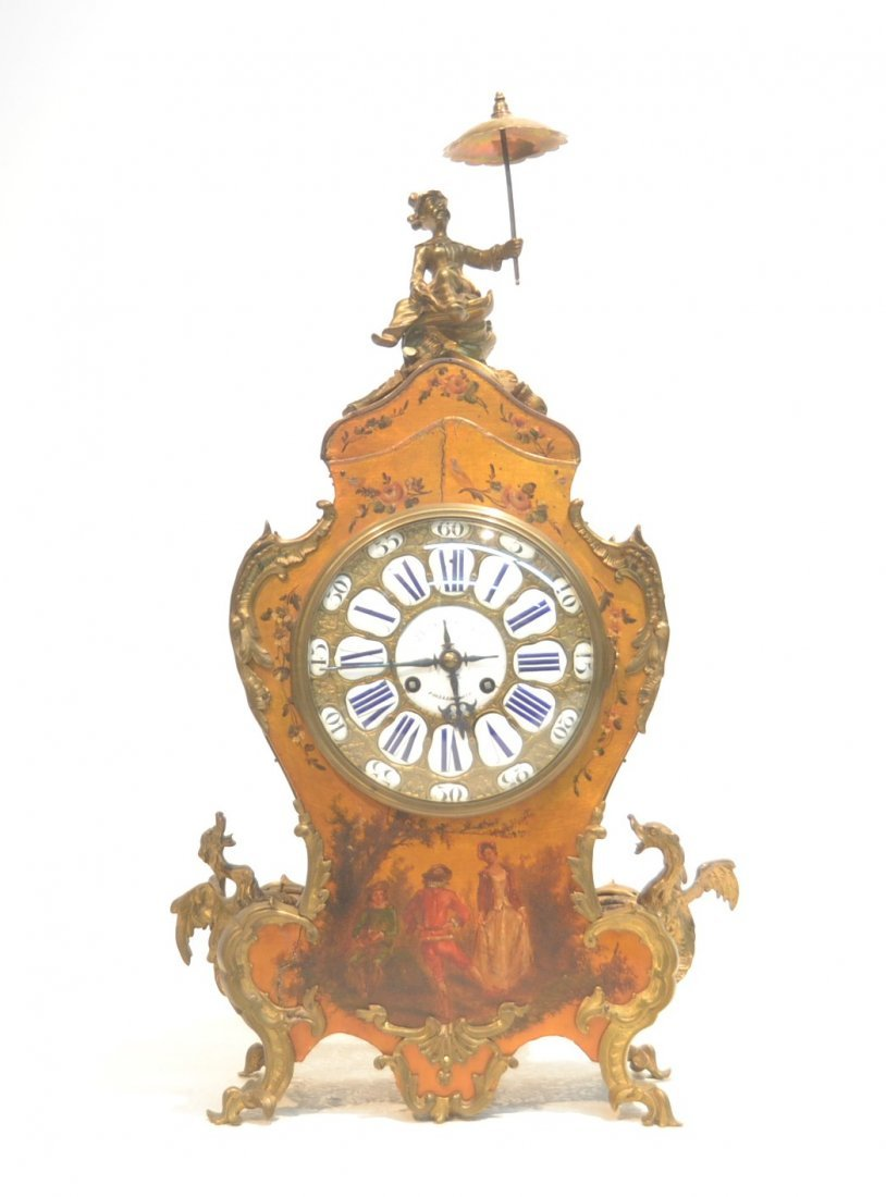 J.E. CALDWELL & Co. HAND PAINTED MANTLE CLOCK