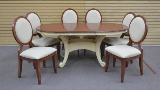 Walter Of Wabash 2 Tone Dining Table With Leaf