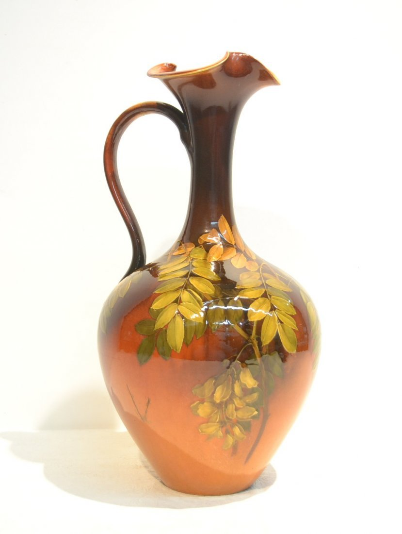 LARGE ROOKWOOD FOLIATE DESIGN EWER WITH