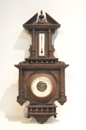 19thc French Massiot A. Paris Aneroide Barometer