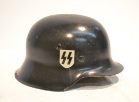 German Wwii Military Helmet With Double Decal
