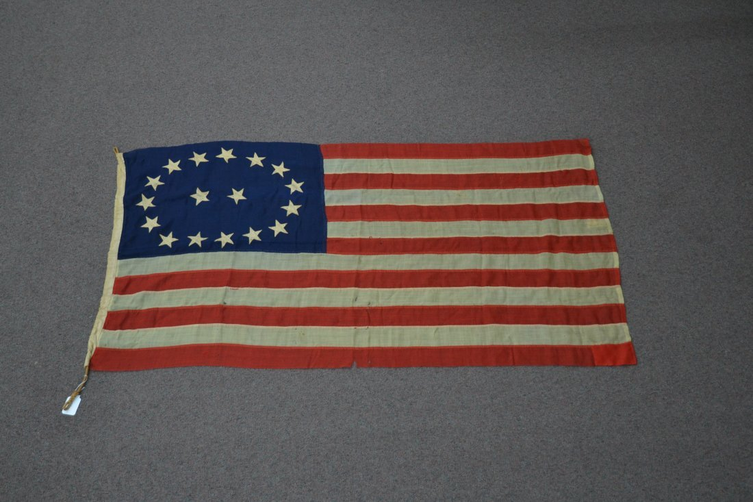 17 STAR AMERICAN FLAG ; NUMBERED A20691 - 2