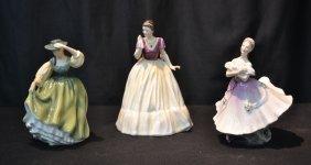 "(3) Royal Doulton Figurines - ""miranda"" ,"