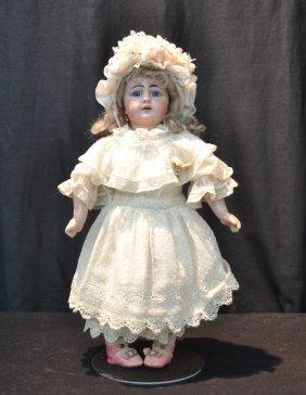 German Simon Halbig Bisque Head Doll With