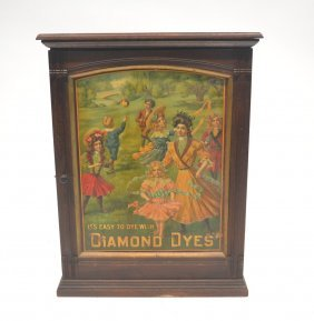 Governess Diamond Dye Lithographed Cabinet