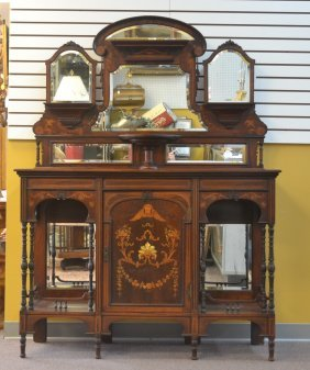 19thc Rosewood Etagere With Mother Of Pearl