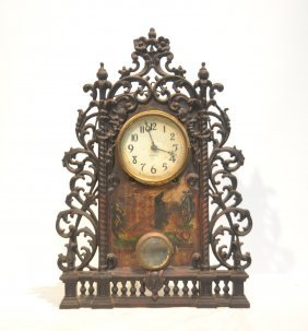 Ingraham Iron Mantle Clock With