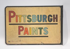Pittsburgh Paints Double Sided Advertisement