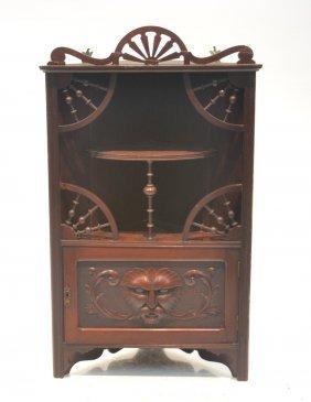 Victorian Mahogany Corner Shelf With