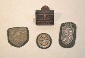 German Wwii Badges & Stamp To Include