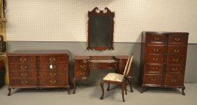 Red Mahogany Bedroom Set Consisting Of