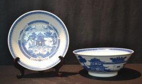 Oriental Porcelain Bowl & Underplate
