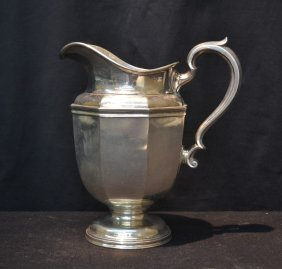 Large Bigelow & Kennard Sterling Silver Pitcher