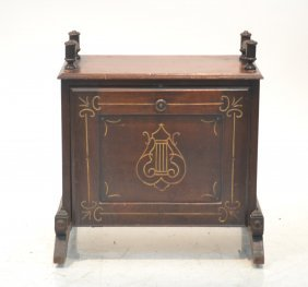 Victorian Eastlake Double Sided Magazine Cabinet