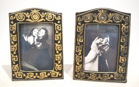 (pr) Velvet Picture Frames With Gold Thread