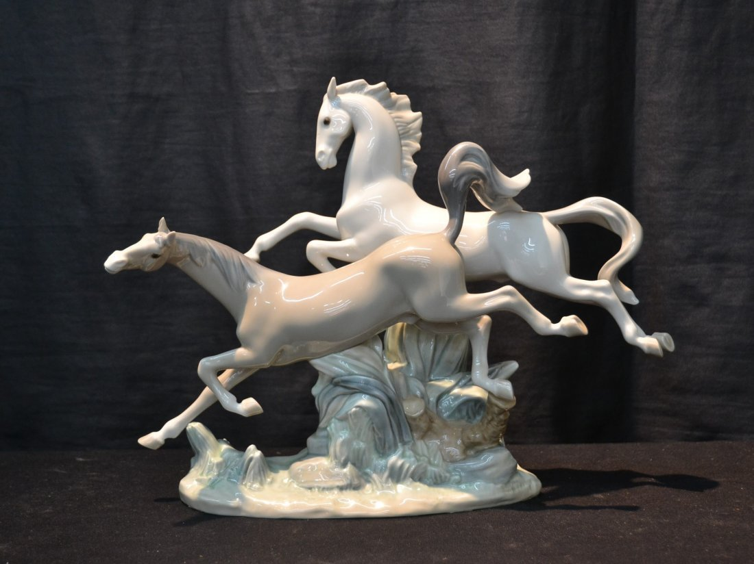 LLADRO HORSES GALLOPING , # 4655 BY