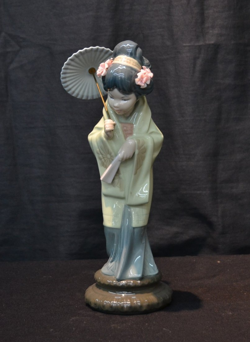 LLADRO JAPANESE GIRL WITH PARASOL , # 4988