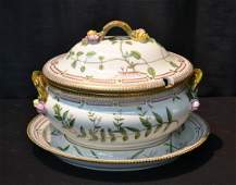 LARGE FLORA DANICA COVERED SOUP TUREEN &
