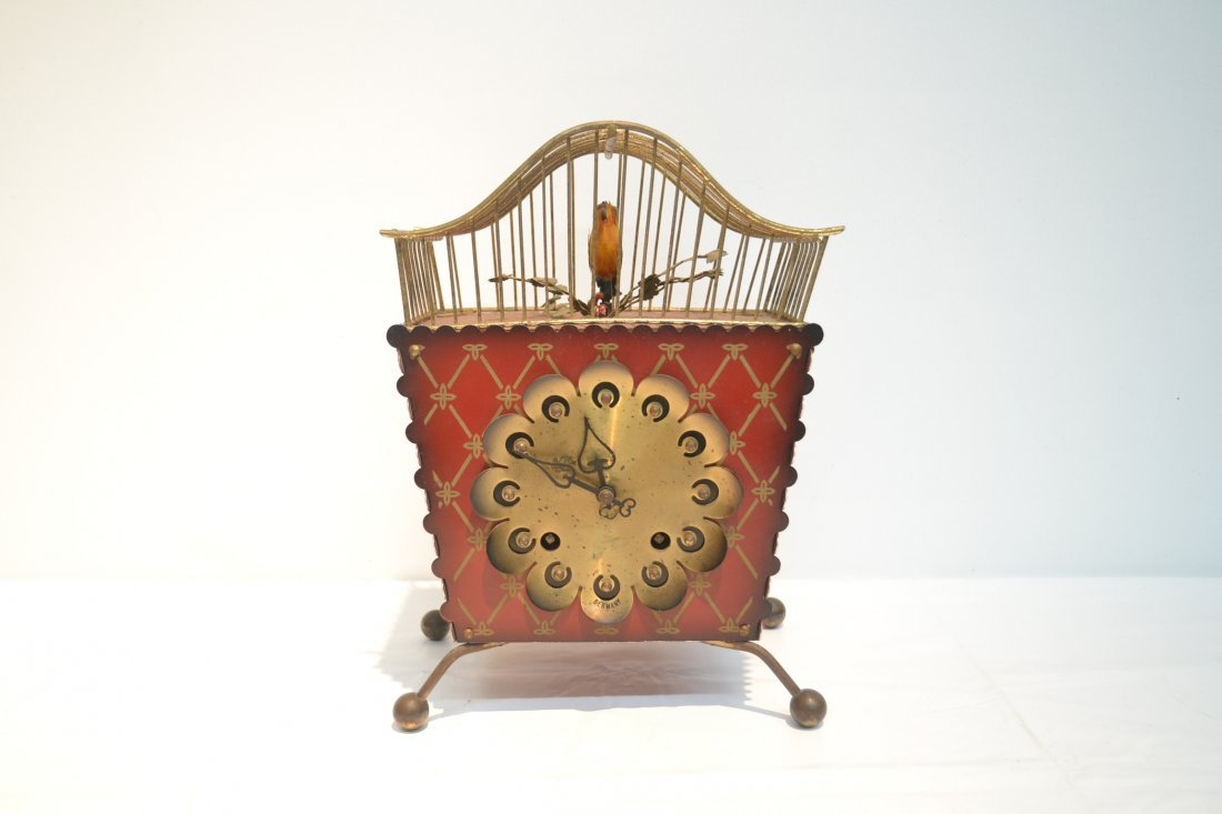 GERMAN AUTOMATON BIRDCAGE CLOCK - 2