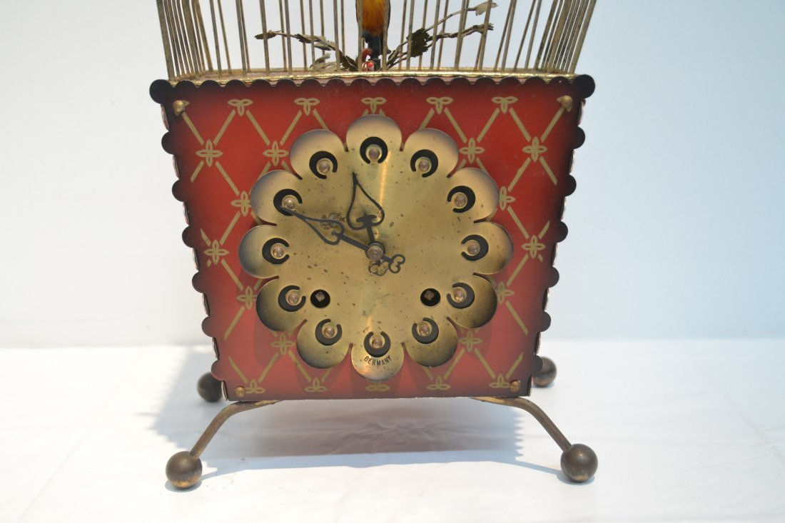 GERMAN AUTOMATON BIRDCAGE CLOCK - 3