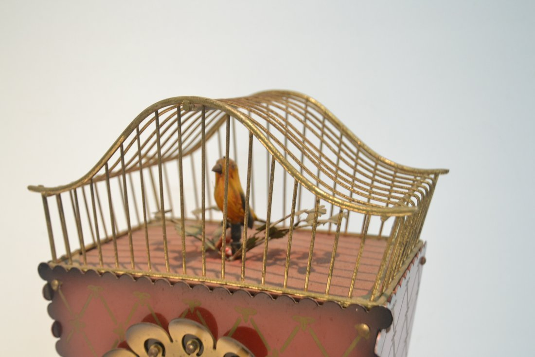 GERMAN AUTOMATON BIRDCAGE CLOCK - 5