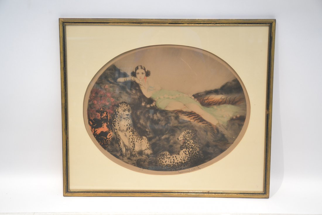 """OVAL LOUIS ICART """"THAIS"""" LITHOGRAPH OF - 10"""
