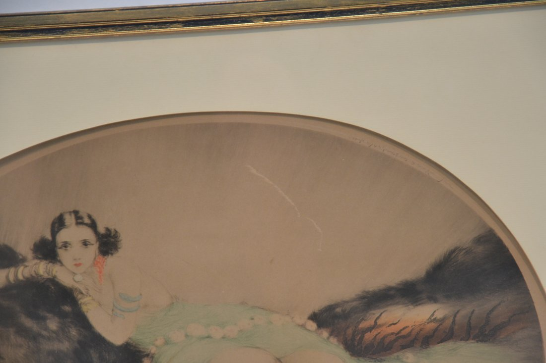 """OVAL LOUIS ICART """"THAIS"""" LITHOGRAPH OF - 5"""