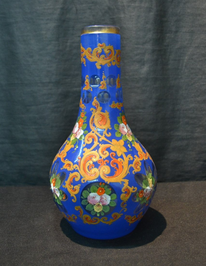 PERSIAN VASE WITH ENAMELED FLOWERS