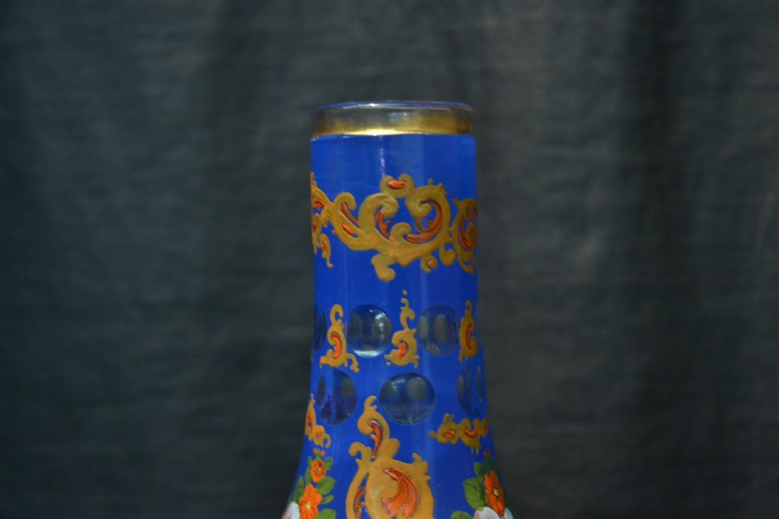 PERSIAN VASE WITH ENAMELED FLOWERS - 2