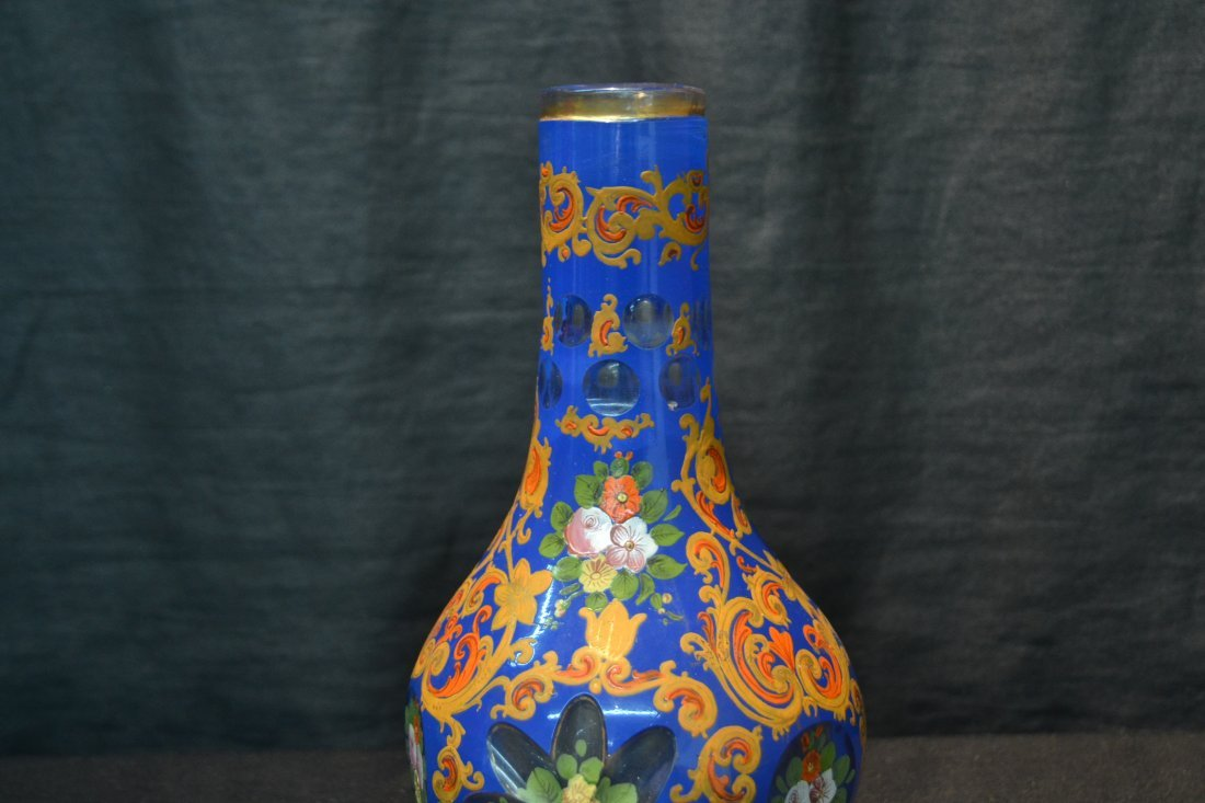 PERSIAN VASE WITH ENAMELED FLOWERS - 5