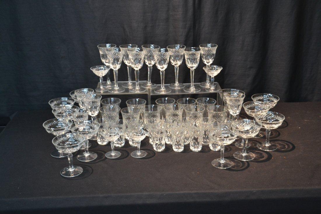 CUT GLASS STEMWARE TO INCLUDE (12) CHAMPAGNE , - 2