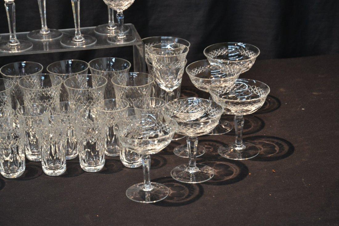 CUT GLASS STEMWARE TO INCLUDE (12) CHAMPAGNE , - 3
