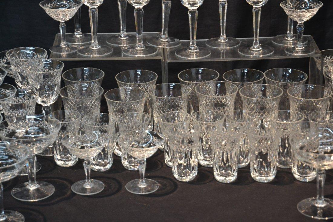 CUT GLASS STEMWARE TO INCLUDE (12) CHAMPAGNE , - 4