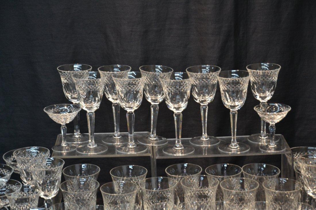 CUT GLASS STEMWARE TO INCLUDE (12) CHAMPAGNE , - 6