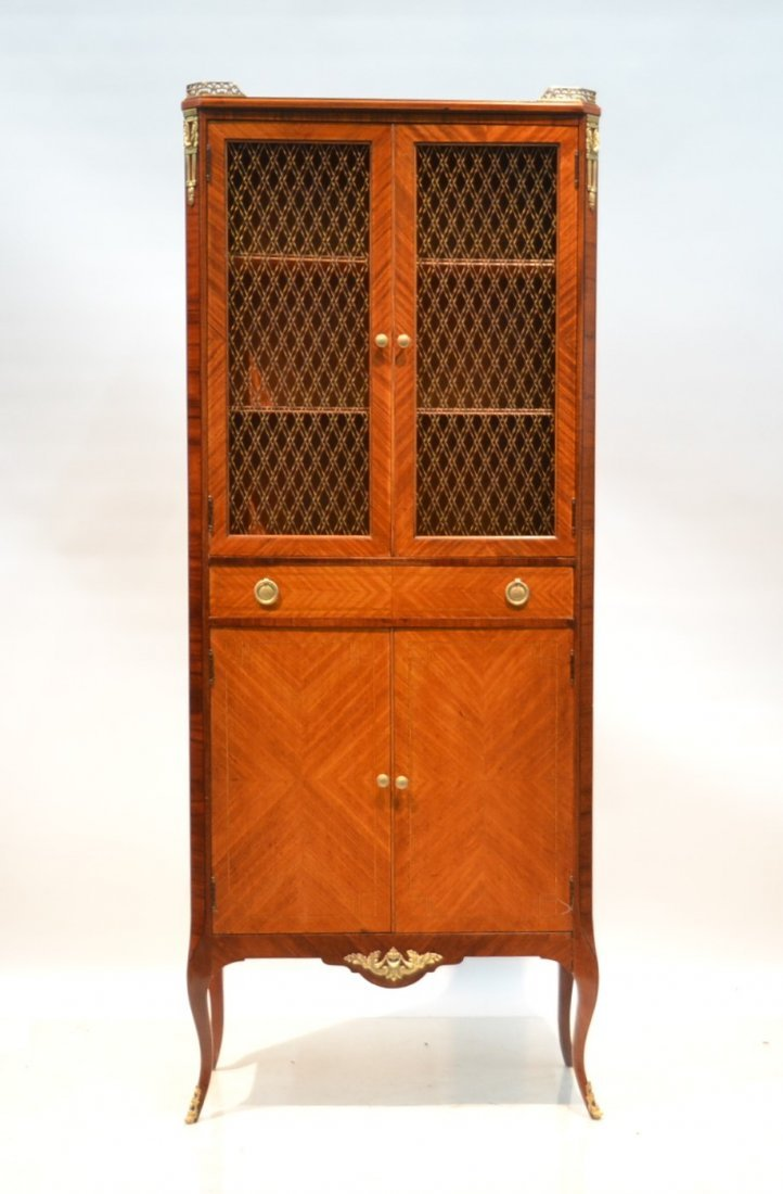 FRENCH PARQUETRY INLAID CABINET WITH