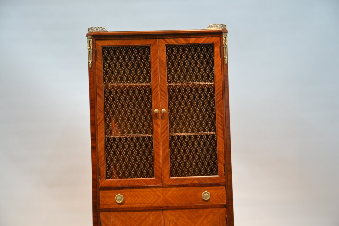 FRENCH PARQUETRY INLAID CABINET WITH - 3