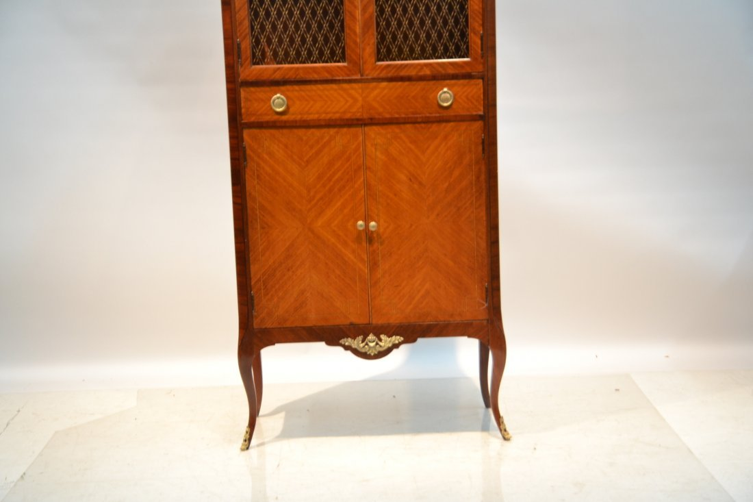 FRENCH PARQUETRY INLAID CABINET WITH - 4